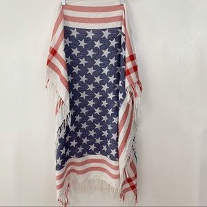 Michael Stars American flag square scarf